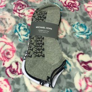 Michael Kors Men's 3 Pack Ankle Socks